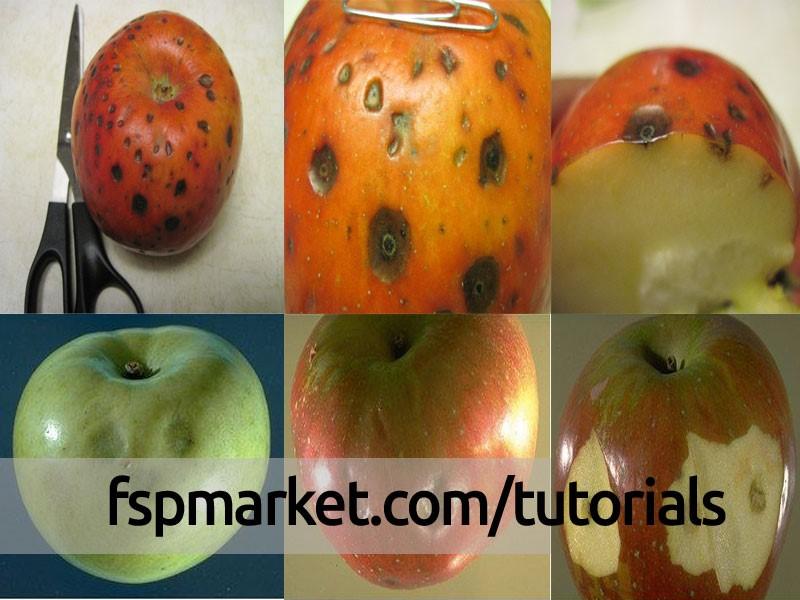 لکه چوب پنبه ای سیب و گلابی