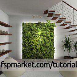 گل و گیاه روی دیوار
